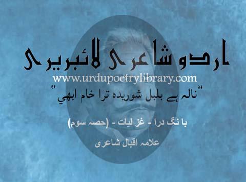 Nala Hay Bulbul Shoridah Tera Kham Abi
